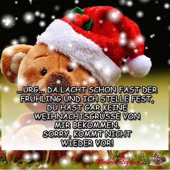Weihnachtsgruesse nachtraeglich